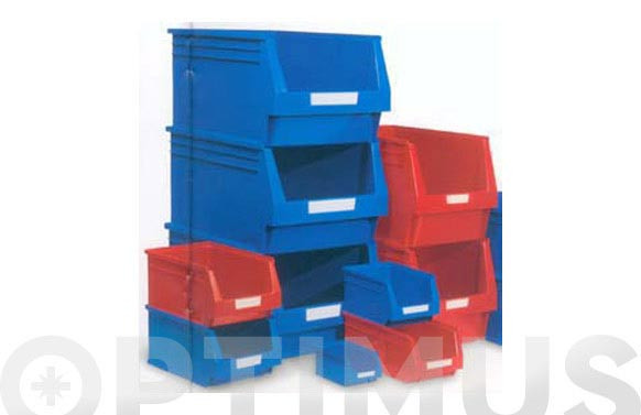 GAVETA APILABLE PLASTICO N.56 AZUL 420 X 270 X 175 MM. 13,9 LITROS