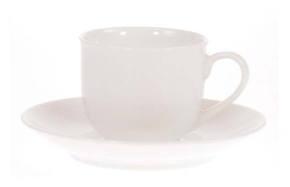 TAZA CAFE C/PLATO PORCEL.BLANCABLANCA