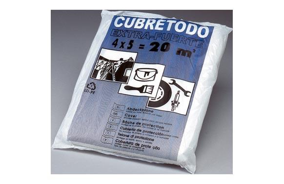 PLASTICO CUBRETODO FINO 4 MT X 5MT 7 MICRAS