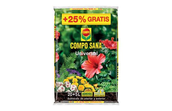 SUBSTRATO UNIVERSAL COMPO SANA 20+5L GRATIS
