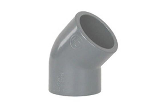 CODO HEMBRA-HEMBRA 45º ENCOLAR PVC PRESION Ø 32