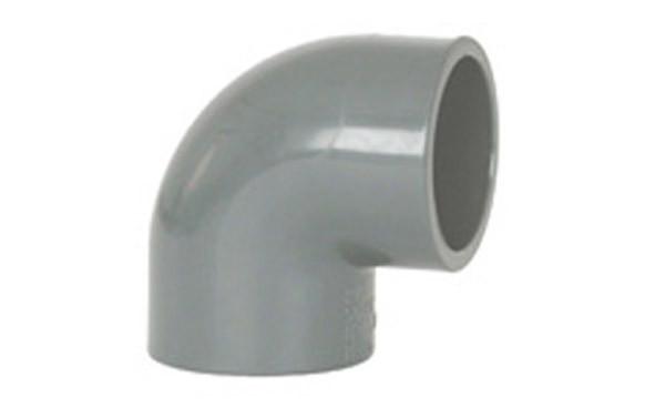 CODO HEMBRA-HEMBRA 90º ENCOLAR PVC PRESION Ø 50