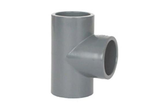 TE HEMBRA 90º ENCOLAR PVC PRESION Ø 50