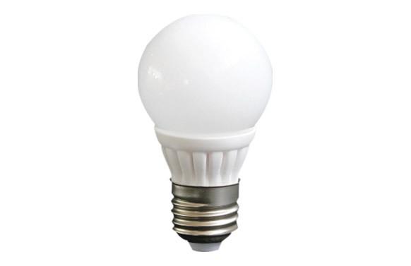 LAMPARA ESFERICA CERAMICA SMD 3W E-27 220LM LUZ CALIDA (3500K)