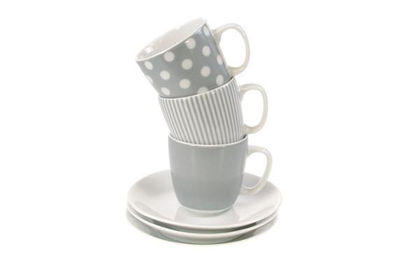TAZA CAFE CON PLATOBANDA GRIS