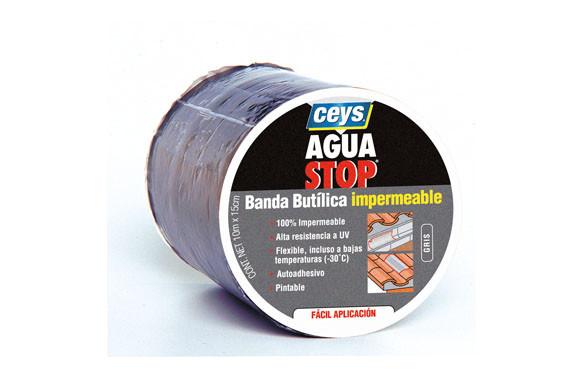 AGUA STOP BANDA IMPERMEABLE BUTILO 10M 15CM GRIS