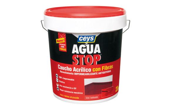 AGUA STOP CAUCHO ACRILICO FIBRAS 20KG GRIS