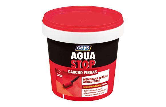 AGUA STOP CAUCHO ACRILICO FIBRAS 1KG GRIS
