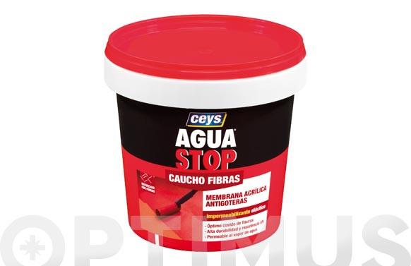 AGUA STOP CAUCHO ACRILICO FIBRAS 1KG BLANCO