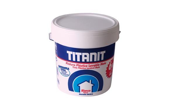PINTURA PLASTICA MATE TITANITBLANCO 15 L