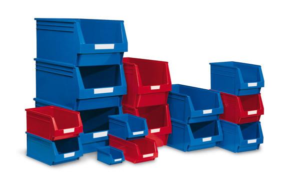 GAVETA APILABLE PLASTICO N.53 ROJA 336 X 160 X 130 MM. 4,8 LITROS