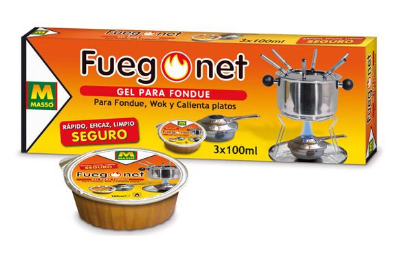 GEL PARA FONDUE FUEGO NET 3 X 100 ML