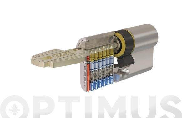 CILINDRO T60 NIQUEL LLAVE PUNTOS30-50