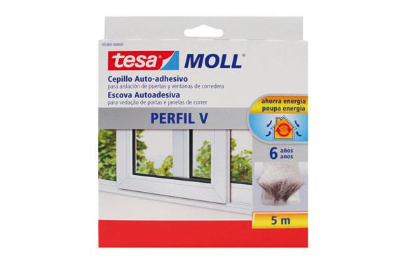 TESAMOLL CEPILLO PERFIL V 5M GRIS