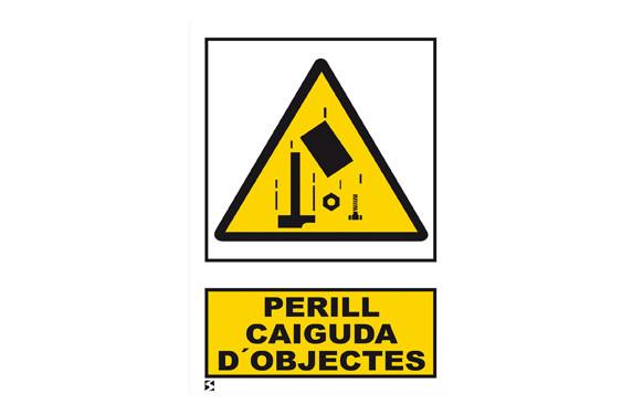 SEÑAL PERILL CAIGUDA OBJECTES 210X297