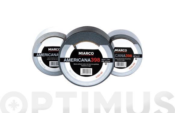 CINTA AMERICANA 39850MMX30M-PLATA