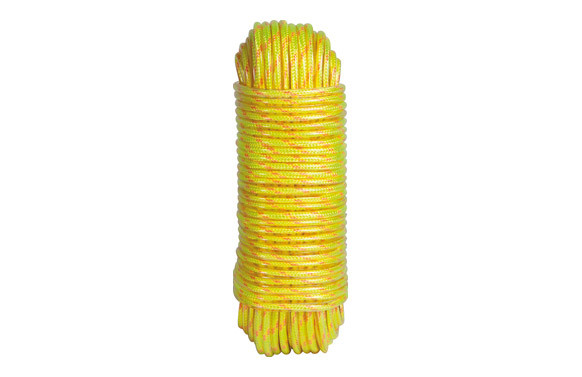 CORDON POLIESTER PLASTIFICADO 5MM-25MT AMARILLO FLUOR