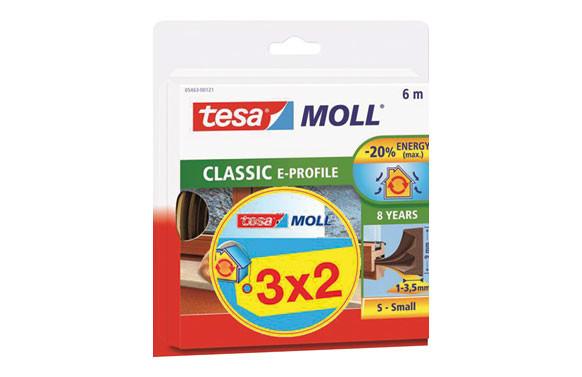 TESAMOLL CAUCHO PERFIL E (PACK 3X2) 6M X 9MM MARRON