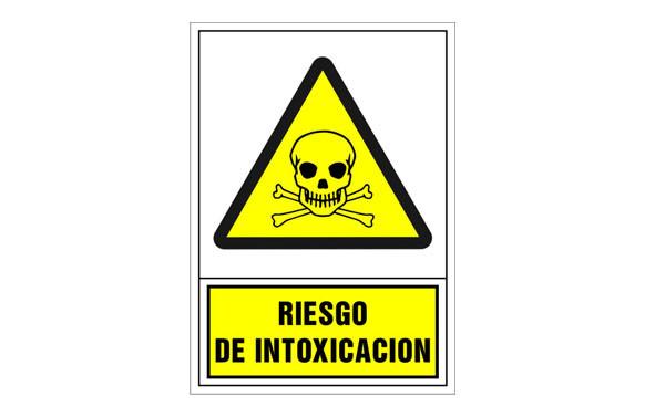 SEÑAL ADVERTENCIA CASTELLANO 490X345 MM-RIESGO DE INTOXICACION
