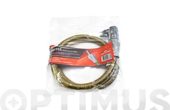 TUBO CONEXION ESPIROMETALICO ENCIMERAS-COCINA GAS 1 M ACERO INOX AISI304
