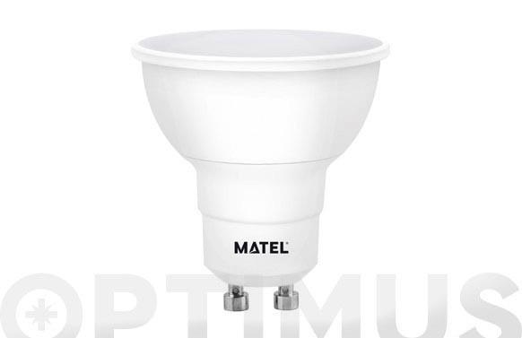 LAMPARA DICROICA LED REGULABLE GU10 8W LUZ CALIDA