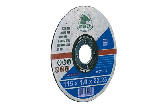 DISCO CORTE STANDARD INOX 115X1X22 PLANO