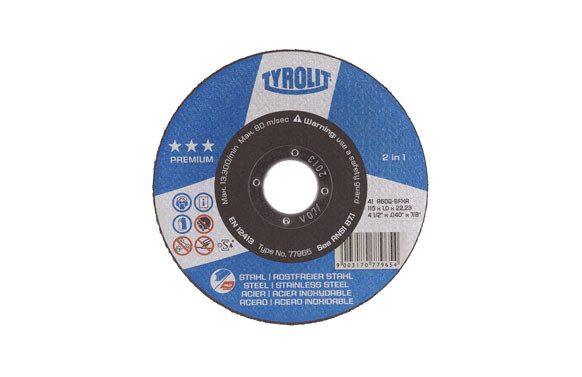 DISCO CORTE ACERO/INOX PREMIUM 115X2,5X22