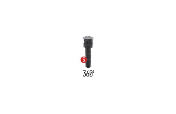 TURBINA MINI PRECISION AJUSTABLE 45º A 270º ALCANCE REGULABLE 4,3-7,9 M.