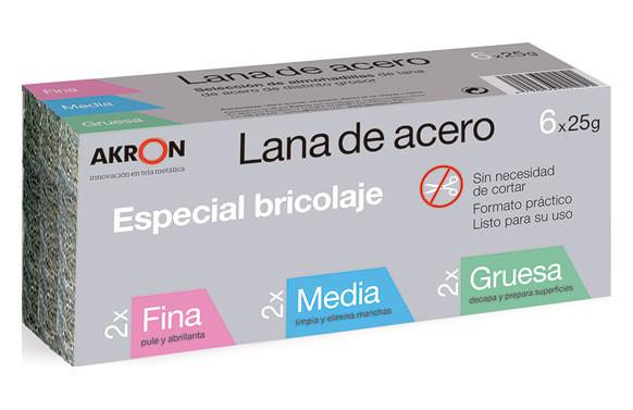 LANA ACERO AKRON SELECCION 2FINO+2MEDIO+2GRUESO