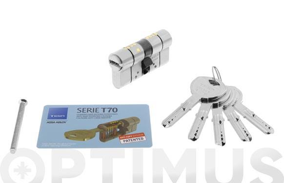 CILINDRO T70 NIQUEL LLAVE PUNTOS 30-40