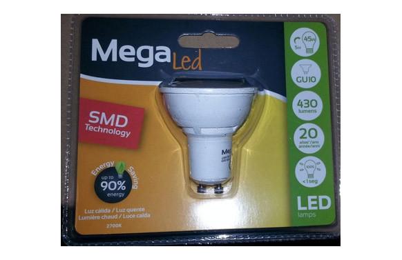 LAMPARA DICROICA SMD LED GU10 5W LUZ CALIDA
