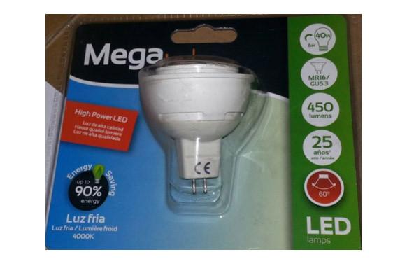 LAMPARA DICROICA SMD LED GU5,3 6W LUZ BLANCA