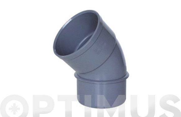 CODO MACHO-HEMBRA 45º PVC EVACUACION CMH-122 Ø 160