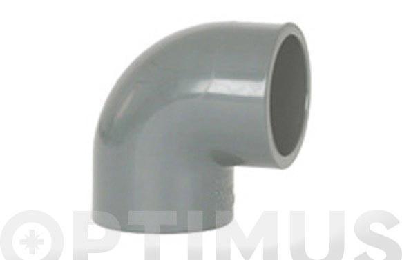 CODO HEMBRA-HEMBRA 90º ENCOLAR PVC PRESION Ø 63