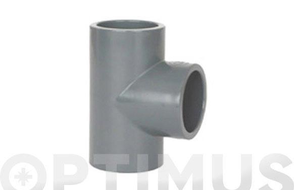 TE HEMBRA 90º ENCOLAR PVC PRESION Ø 63