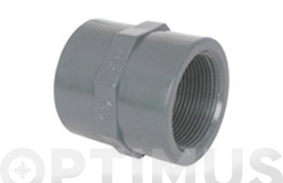 "MANGUITO HEMBRA ROSCA-HEMBRA PVC PRESION 40 X 1 1/4\"""