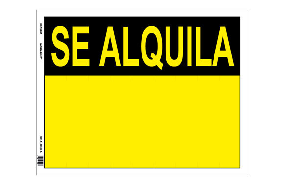 CARTEL LONA SE ALQUILA 450X350 MM