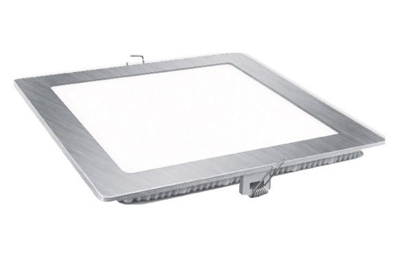 DOWNLIGHT LED EMPOTRAR PLATA CUADRADO 18 W1800 LM FRIA (6400K)