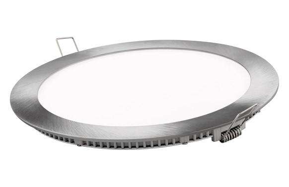 DOWNLIGHT PLANO REDONDO LED 18 WPLATA 1800LM LUZ DIA (6400K)