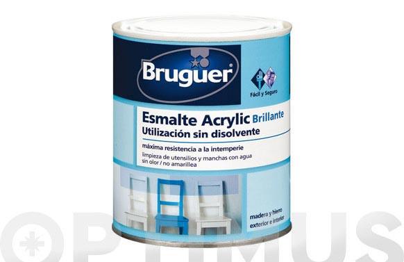 ESMALTE ACRYLIC BRILLANTE 1001 0,250 BLANCO PERMANENTE