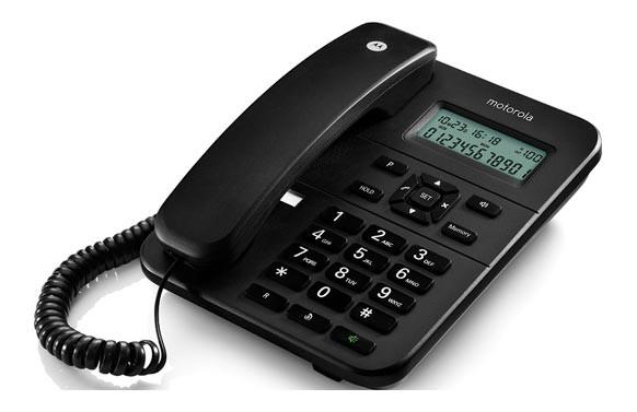 TELEFONO FIJO SOBREMESA NEGRO