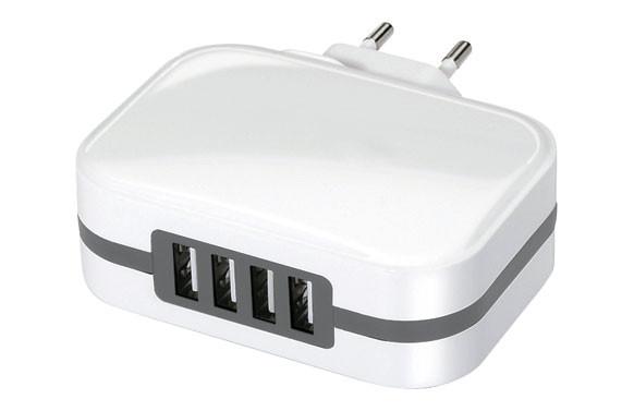 CARGADOR 4 USB CARGA RAPIDA 6,8A