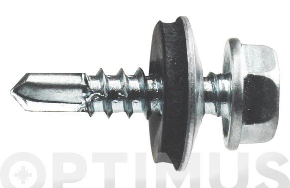 TORNILLO AUTOTALADRANTE DIN-7504-K+ARAND EPDM ZINC 5,5X25 MM P16 (60 UNIDADES)