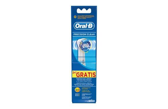 CEPILLO DENTAL RECAMBIO ORAL-B EB20-3+1 PRECISION CLEAN