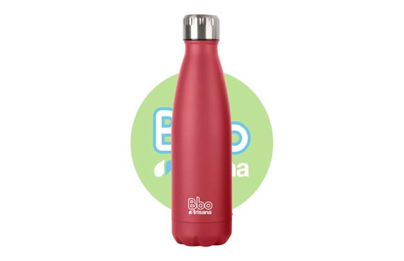 BOTELLA TERMO INOX500 ML ROJO