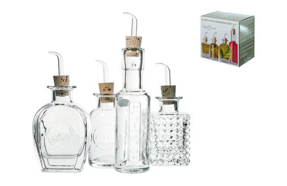Botellas de cristal pequeñas para aceite de sabores
