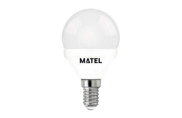 LAMPARA ESFERICA LED AL+PCE14 7W LUZ FRIA