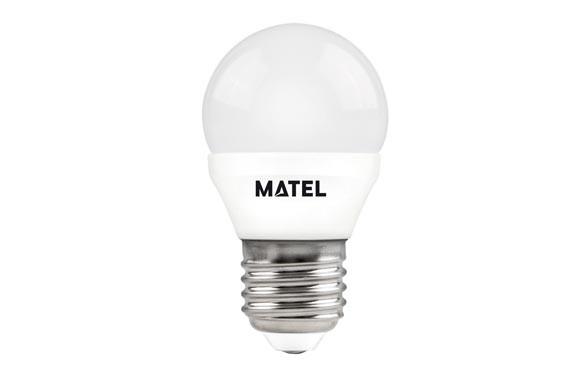 LAMPARA ESFERICA LED AL+PCE27 7W LUZ CALIDA