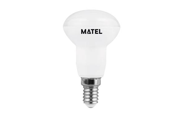 BOMBILLA LED REFLECTORA 50 MM E27 6 W550 LM CALIDA