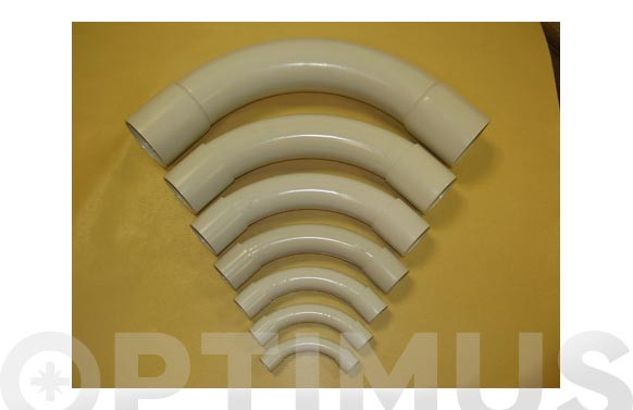 CURVA CORTA PVC GRIS (10 UDS)M-32